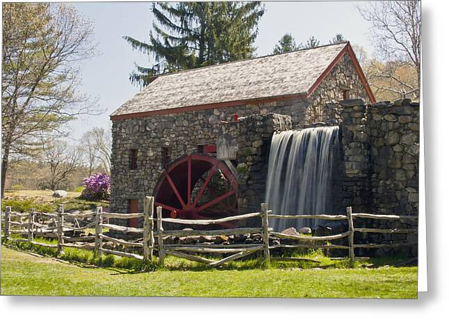 """wayside Grist Mill"" Greeting Cards - Wayside Grist Mill 5 Greeting Card by Dennis Coates"