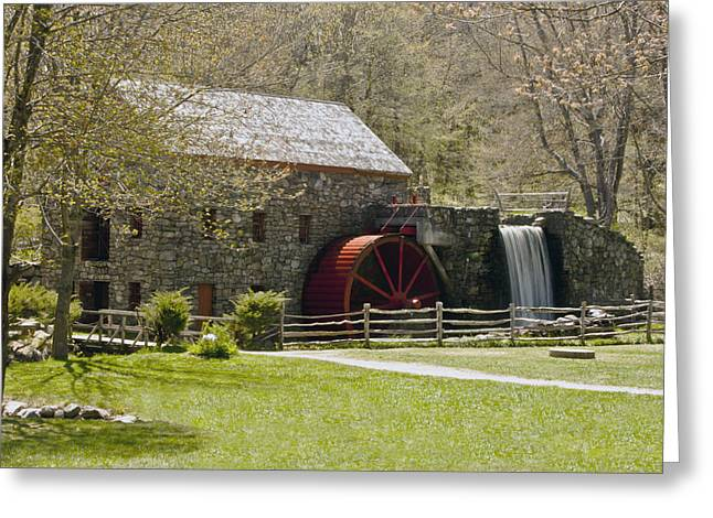 """wayside Grist Mill"" Greeting Cards - Wayside Grist Mill 6 Greeting Card by Dennis Coates"