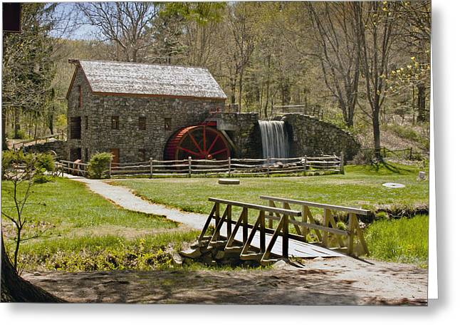 """wayside Grist Mill"" Greeting Cards - Wayside Grist Mill 8 Greeting Card by Dennis Coates"
