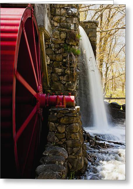 """wayside Grist Mill"" Greeting Cards - Wayside Grist Mill Greeting Card by Dennis Coates"