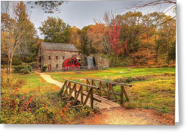 Krista Greeting Cards - Wayside Inn and Grist Mills Greeting Card by Krista Sidwell