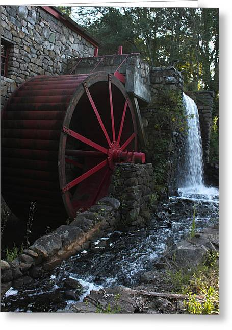 Grist Mill Greeting Cards - Wayside Inn II Greeting Card by Suzanne Gaff