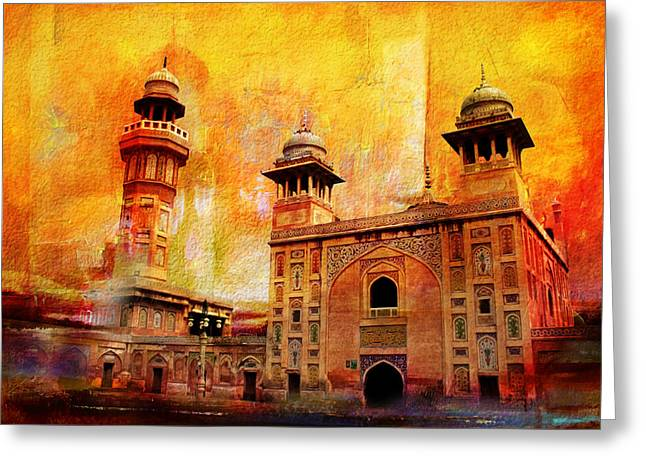 Pakistan Greeting Cards - Wazir Khan Mosque Greeting Card by Catf