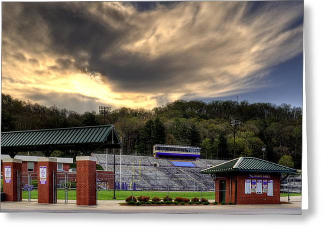 Wcu Greeting Cards - WCU Catamounts Football Stadium Greeting Card by Greg Mimbs