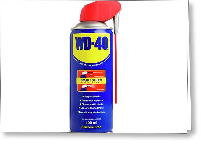 Wd40 Lubricant Greeting Card by Science Photo Library