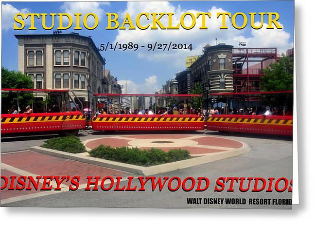 Mgm Greeting Cards - WDW backlot tour tram work A Greeting Card by David Lee Thompson