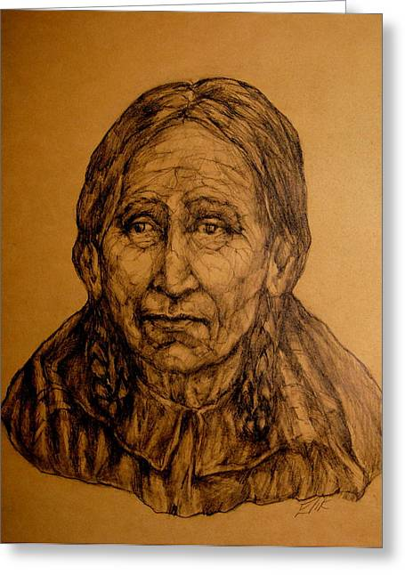 Native American Theme Greeting Cards - We Are All Guardians Of This Sacred Place Greeting Card by Johanna Elik