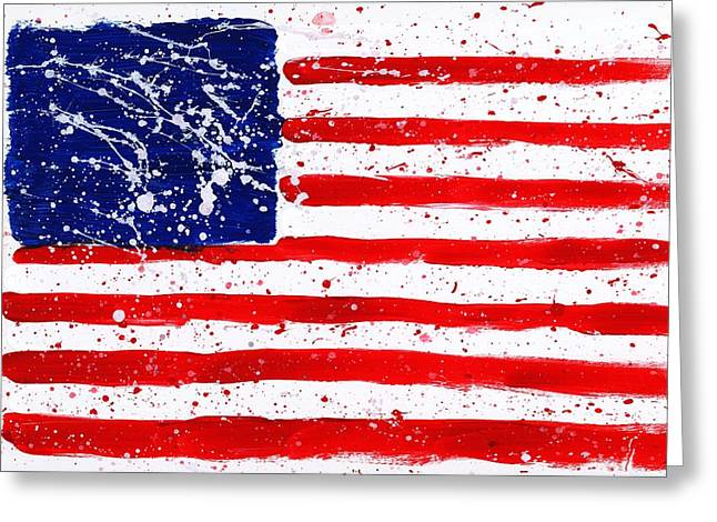 4th July Paintings Greeting Cards - We Are All in This Together Greeting Card by Phil Strang