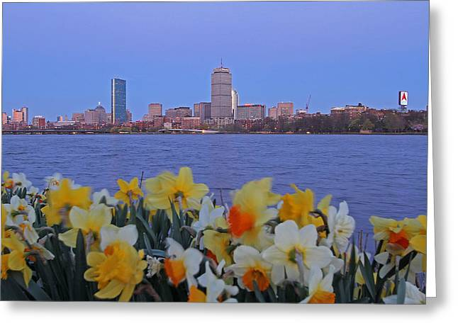 Charles River Greeting Cards - We are Boston Greeting Card by Juergen Roth