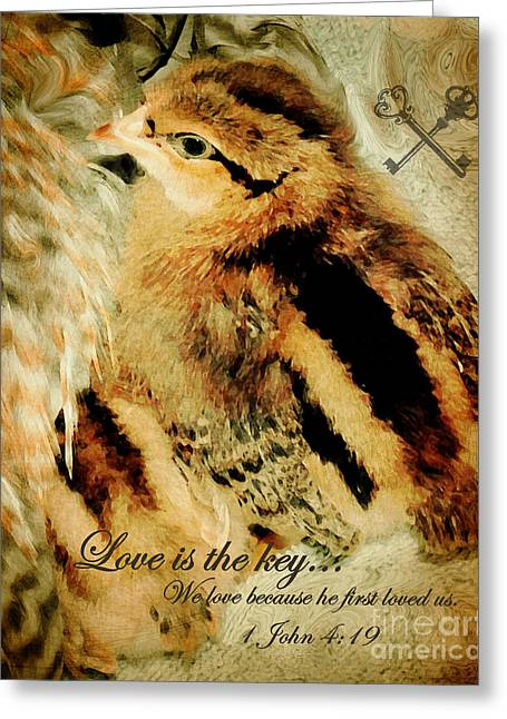 Love The Animal Greeting Cards - We Are Family - Verse Greeting Card by Anita Faye