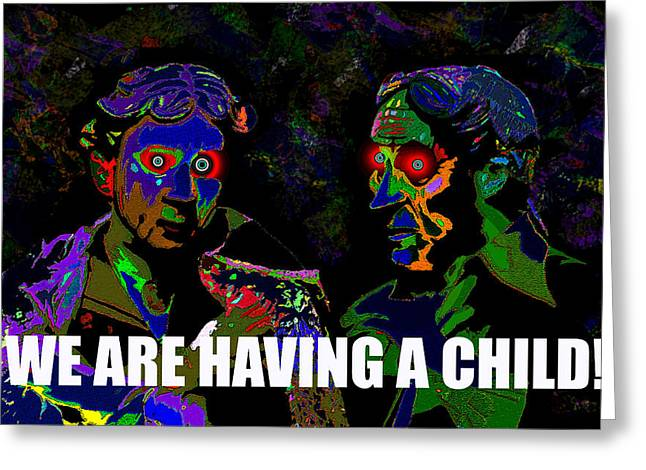 We Are Greeting Cards - We are having a child card  Greeting Card by David Lee Thompson
