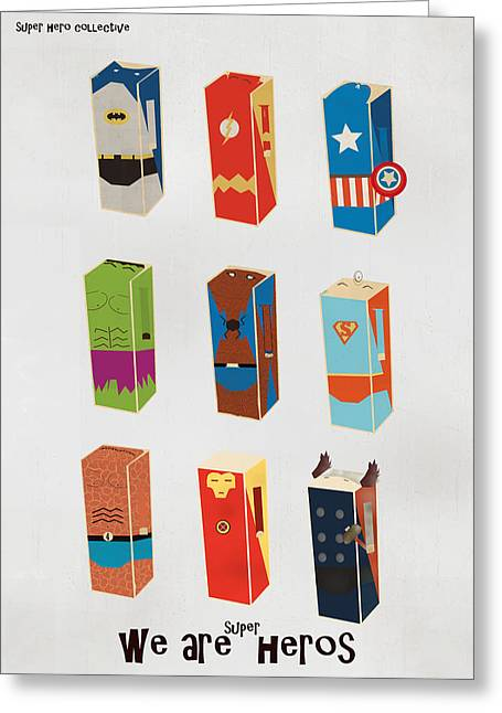 Ironman Greeting Cards - We Are Heros Greeting Card by Bri Buckley