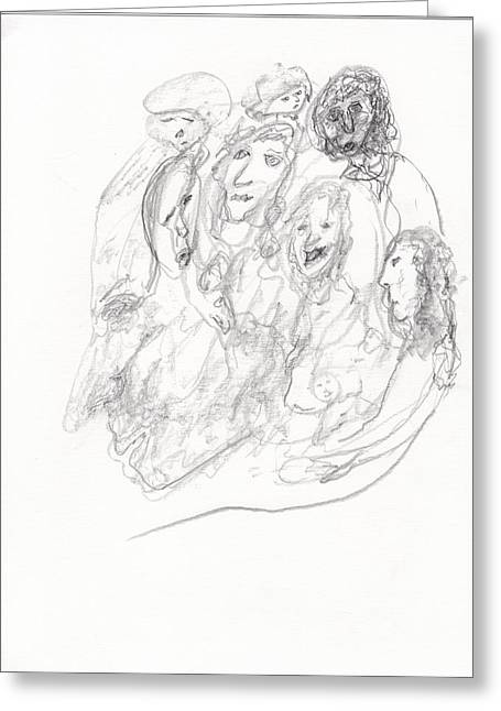 Jim Drawing Drawings Greeting Cards - We Are Refugees  Greeting Card by Jim Taylor