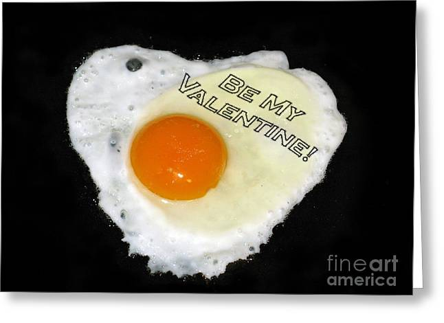 Book Cover Art Greeting Cards - We Are Like Egg And Pepper. Be My Valentine Greeting Card by Ausra Paulauskaite