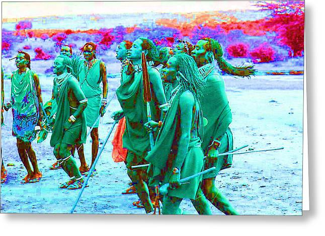 African Jewelry Greeting Cards - We Are Masai Greeting Card by Joseph Wiegand