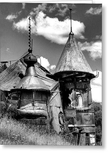 Junk Greeting Cards - We are not in Kansas Anymore II BW Greeting Card by David Patterson
