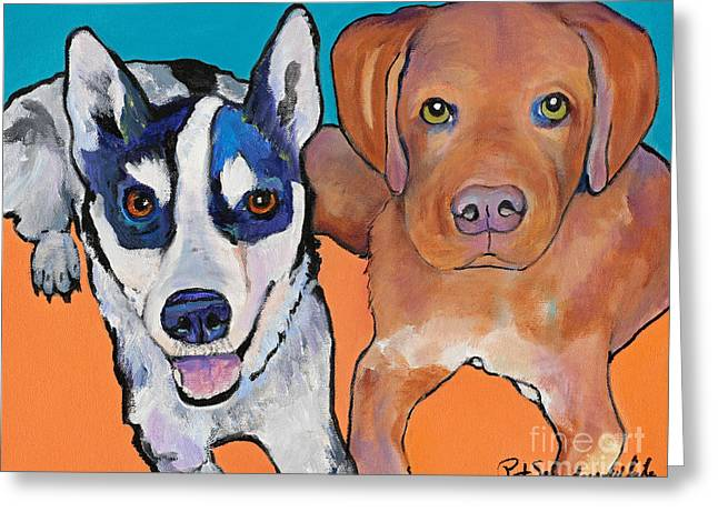 Greeting Cards - We Are One Greeting Card by Pat Saunders-White