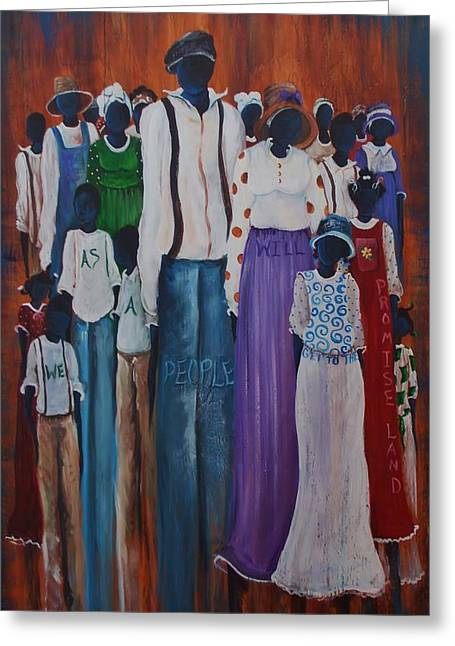 Recently Sold -  - African-american Greeting Cards - We Are One Greeting Card by Sonja Griffin Evans