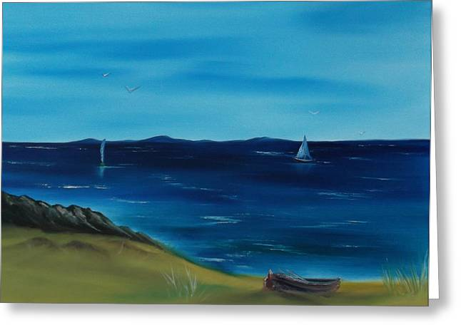 Bob Ross Paintings Greeting Cards - We are Sailing.. Greeting Card by Cynthia Adams