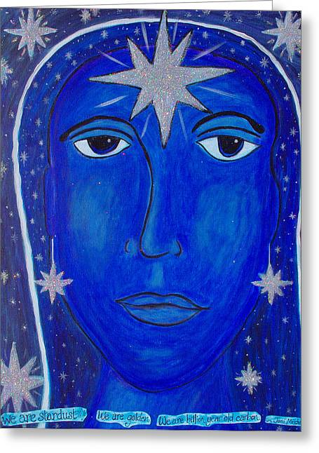 Joni Greeting Cards - We Are Stardust Greeting Card by Michelle Fairchild