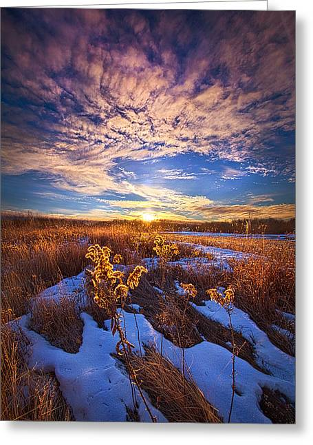 Sunrise Greeting Cards - We Cannot Let Our Angels Go Greeting Card by Phil Koch