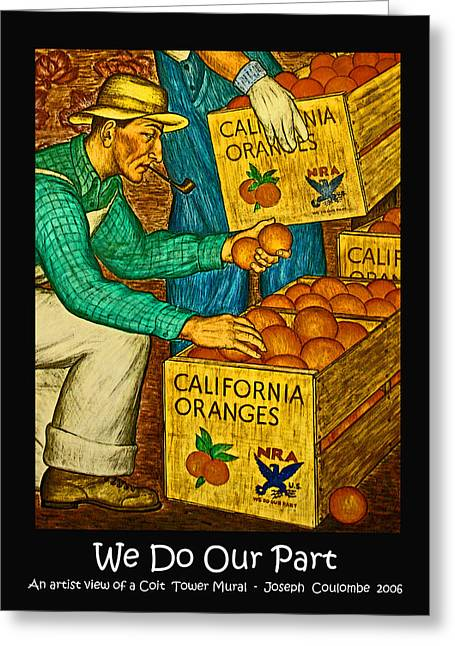 Franklin Farm Greeting Cards - We Do Our Part Greeting Card by Joseph Coulombe