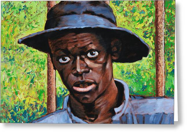 African-american Paintings Greeting Cards - We Dont Want to Go Back Greeting Card by John Lautermilch