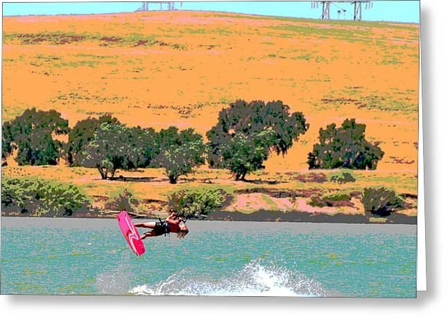 Kite Boarding Digital Art Greeting Cards - We have Lift Off Greeting Card by Joseph Coulombe