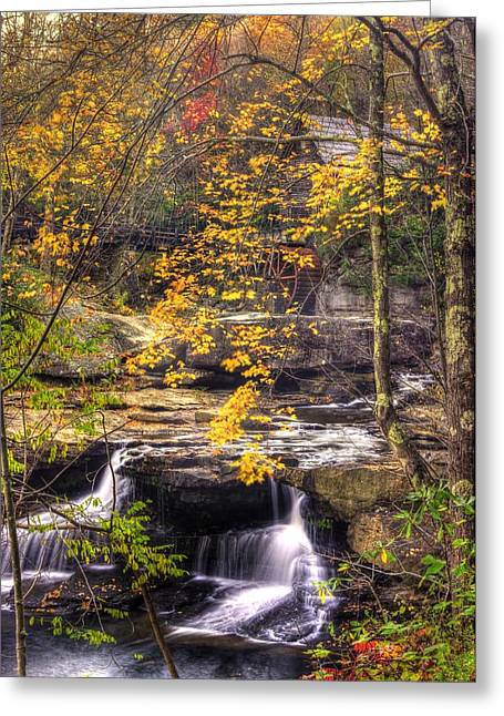 Leaf Peepers Greeting Cards - We Have Reached the Mill - Glade Creek Grist Mill Babcock State Park West Virginia - Autumn Greeting Card by Michael Mazaika