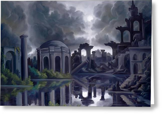 Ruined Empires Greeting Cards - We Lost Our Empire A Long Time Ago Greeting Card by James Christopher Hill