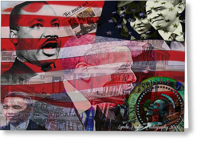 Inauguration Digital Greeting Cards - We Must Act Greeting Card by Lynda Payton