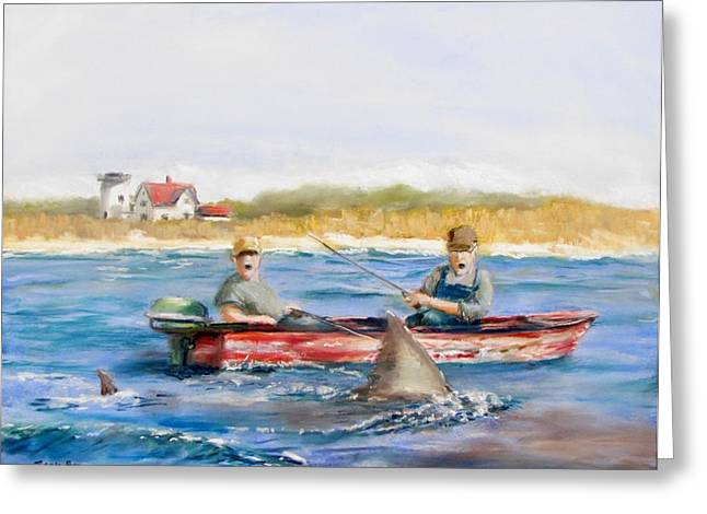 New England. Pastels Greeting Cards - We Need A Biggah Boat Greeting Card by Jack Skinner