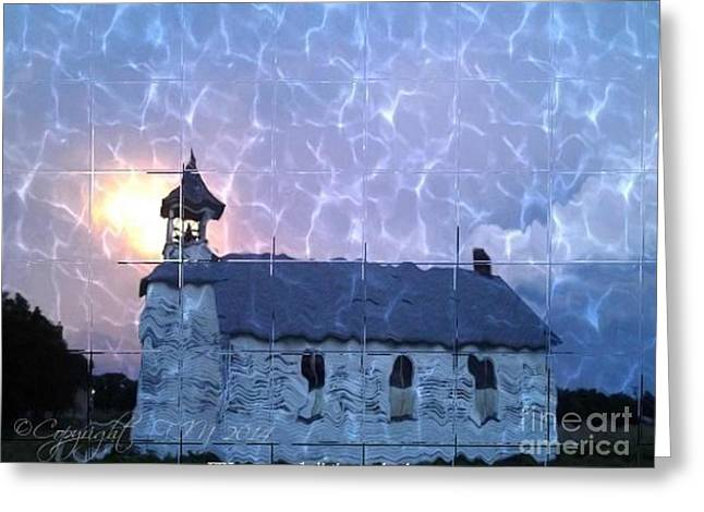 Country Church Mixed Media Greeting Cards - We Needed The Rain Lord Greeting Card by PainterArtist FIN