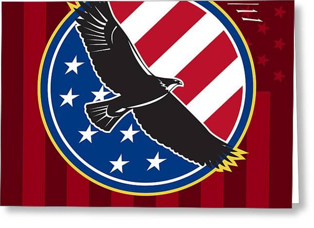We Remember 911 Patriot Day Retro Poster Greeting Card by Aloysius Patrimonio