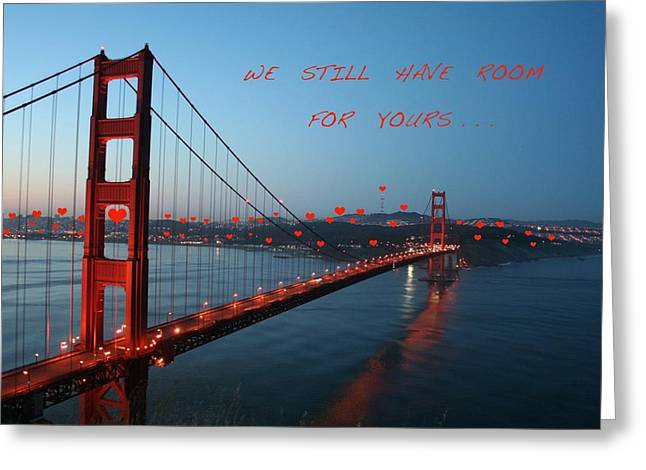 San Francisco Pyrography Greeting Cards - We Still Have Room For Yours Greeting Card by DUG Harpster