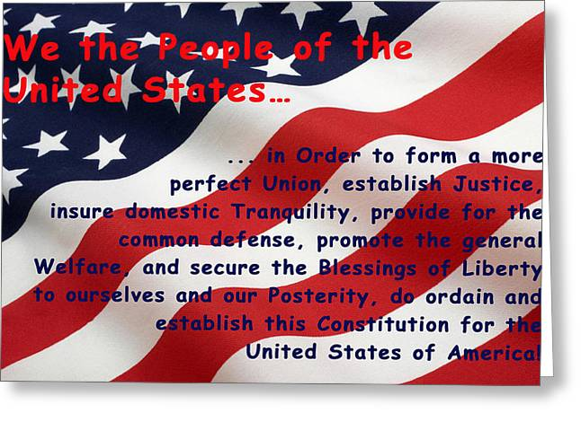 We The People Greeting Card by Barbara Snyder