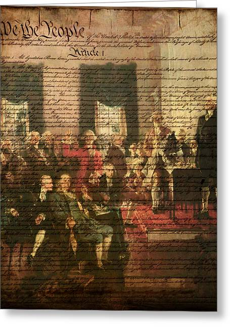 We The People Greeting Card by Bill Cannon