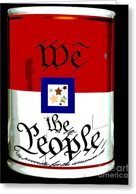 Civil Rights Greeting Cards - We The People Pop Art Print Greeting Card by AdSpice Studios