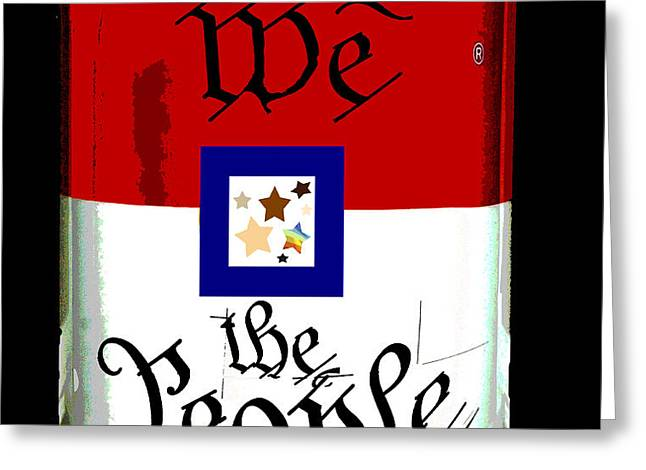 We The People Pop Art Print Greeting Card by AdSpice Studios