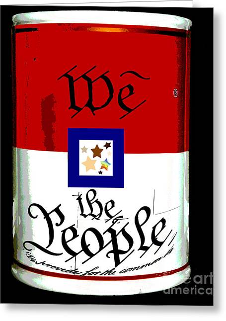 Equality Greeting Cards - We The People Pop Art Print Greeting Card by ArtyZen Studios - ArtyZen Home
