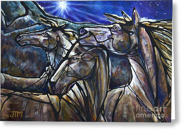 Reverence Greeting Cards - We Three Kings Greeting Card by Jonelle T McCoy