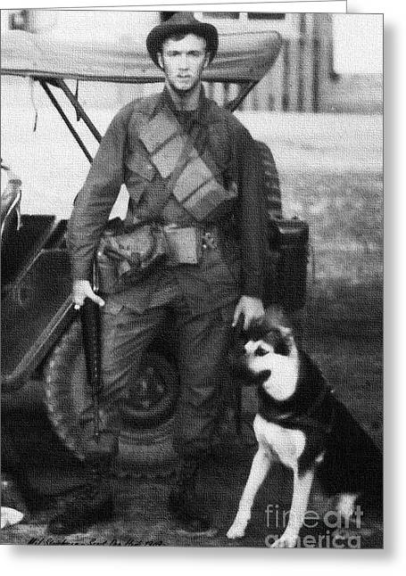 Working Dog Greeting Cards - We Were Soldiers Greeting Card by Mel Steinhauer