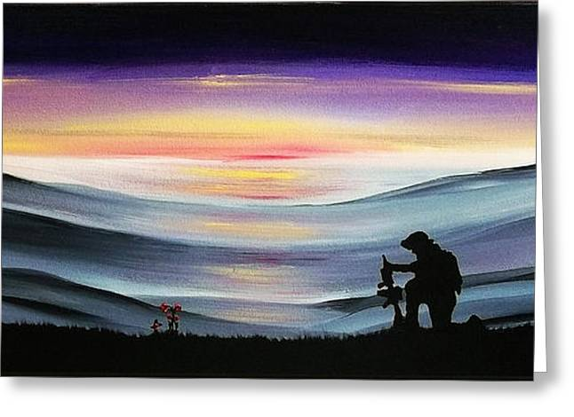 Gi Paintings Greeting Cards - We Will Remember Them Greeting Card by Peter Stevenson