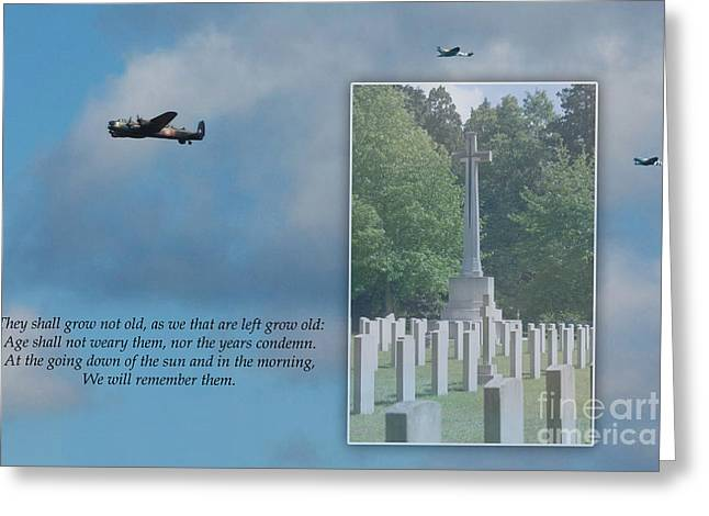 Terri Waters Greeting Cards - We Will Remember Them Greeting Card by Terri  Waters