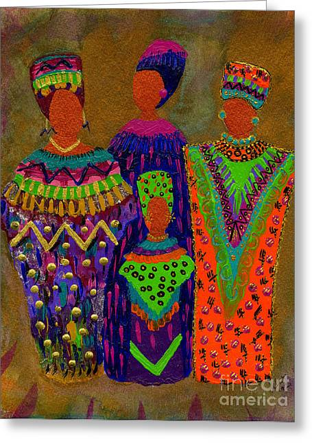 Survivor Art Greeting Cards - We Women 4 Greeting Card by Angela L Walker