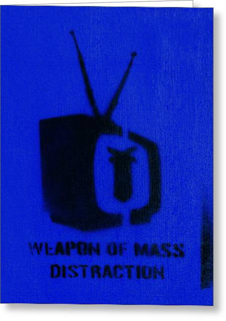 Detonating Greeting Cards - Weapon of mass distraction Greeting Card by A Rey