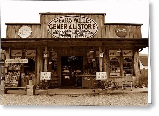False Front Greeting Cards - Wears Valley General Store Greeting Card by David Lee Thompson