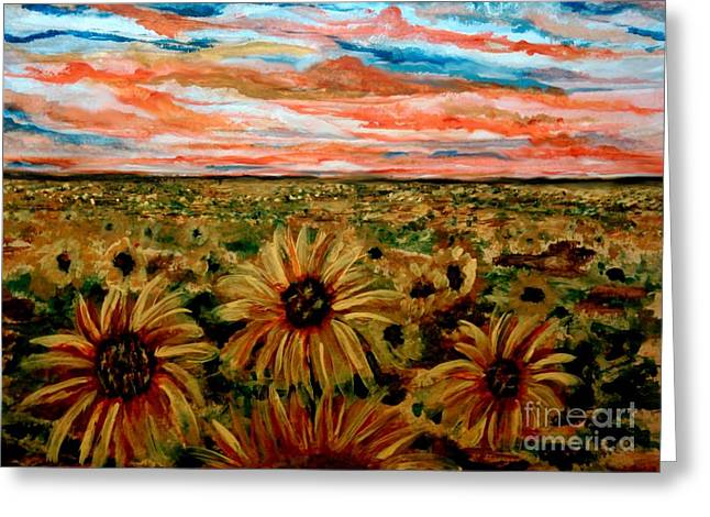 Height Mixed Media Greeting Cards - Weary of Time Greeting Card by Lori  Lovetere