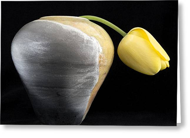 Life Ceramics Greeting Cards - Weary Tulip Greeting Card by Monty Cook