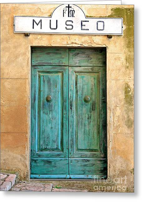 Kate Mckenna Greeting Cards - Weathed Museo Door Greeting Card by Kate McKenna
